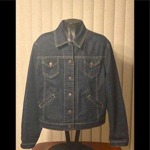 Levi Strauss Signature Dark Blue Denim Jacket-8/10